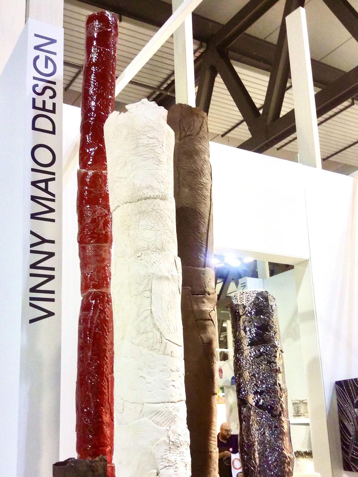 Varie creazione in ceramica handmade esposte