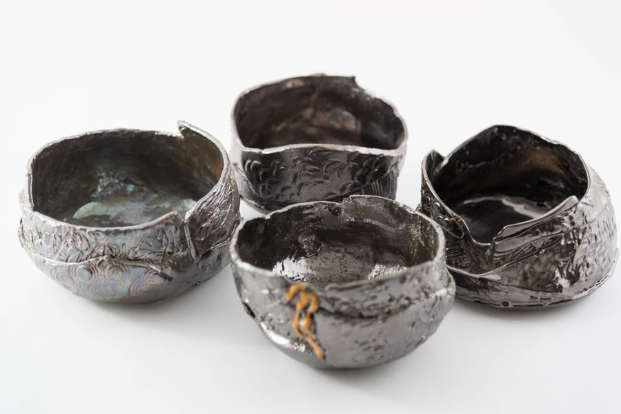 Piccole ciotole portaoggetti in ceramica lucida